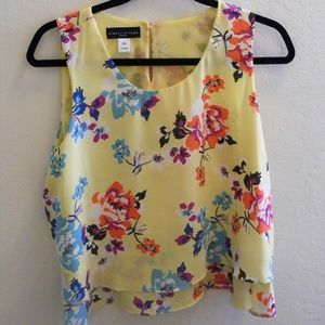 Simply Styled Floral Crop Top Blouse (L/G Petite)